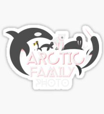 Arctic Fauna Family Photo Sticker