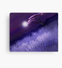 Cherry Tree At Night Canvas Print