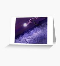 Cherry Tree At Night Greeting Card