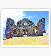 Castle ruin with a lake view  Sticker