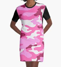 Camouflage (Red) Graphic T-Shirt Dress