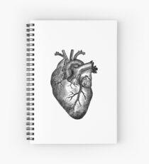 Cuaderno de espiral Anatomía del corazón de la vendimia