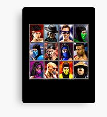 Mortal Kombat 2 Character Select Canvas Print