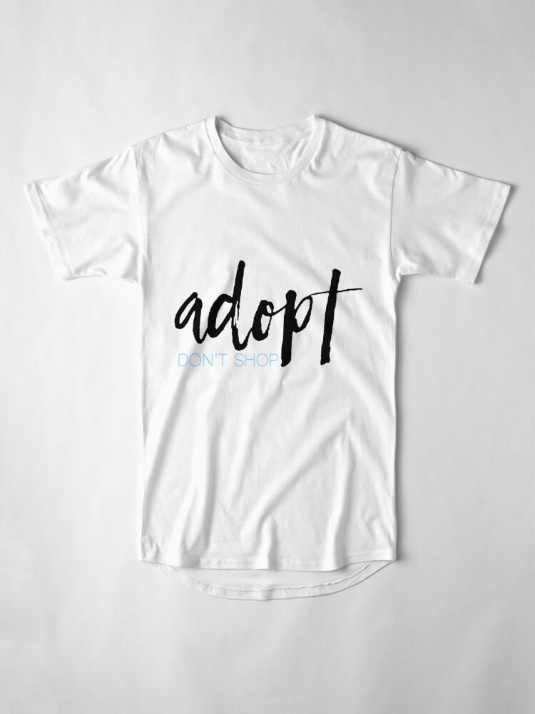 Alternative Ansicht von Adoptieren nicht einkaufen Longshirt