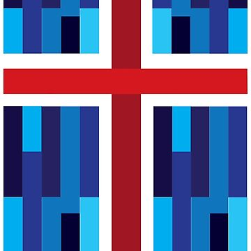 Iceland Flag by Coelina
