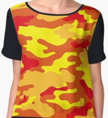 Camouflage (Fire) Women's Chiffon Top