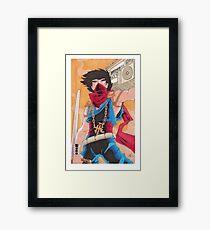Strider Hiryu Fan Art  Framed Print