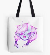 Pastel Demon Girl with braids Tote Bag