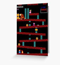 Old School Mario & Donkey Kong Greeting Card