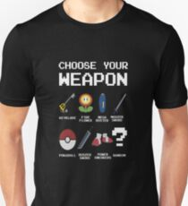 Chose Your Weapon - All Nintendo T-Shirt