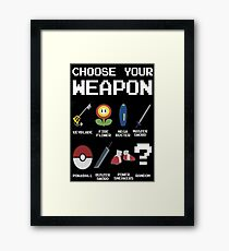 Chose Your Weapon - All Nintendo Framed Print