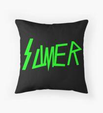 Slimer Slayer Throw Pillow