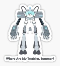 Where Are My Testicles, Summer? Sticker