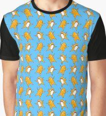 Sharky Tile - Orange/blue Graphic T-Shirt