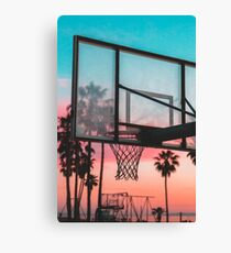 GTA Basketball Sunset Canvas Print