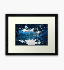 Colour effected nature, forest, lake photography in Tokyo Framed Print