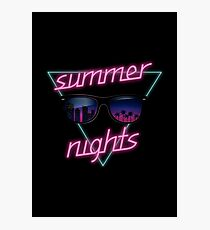 Summer nights Photographic Print