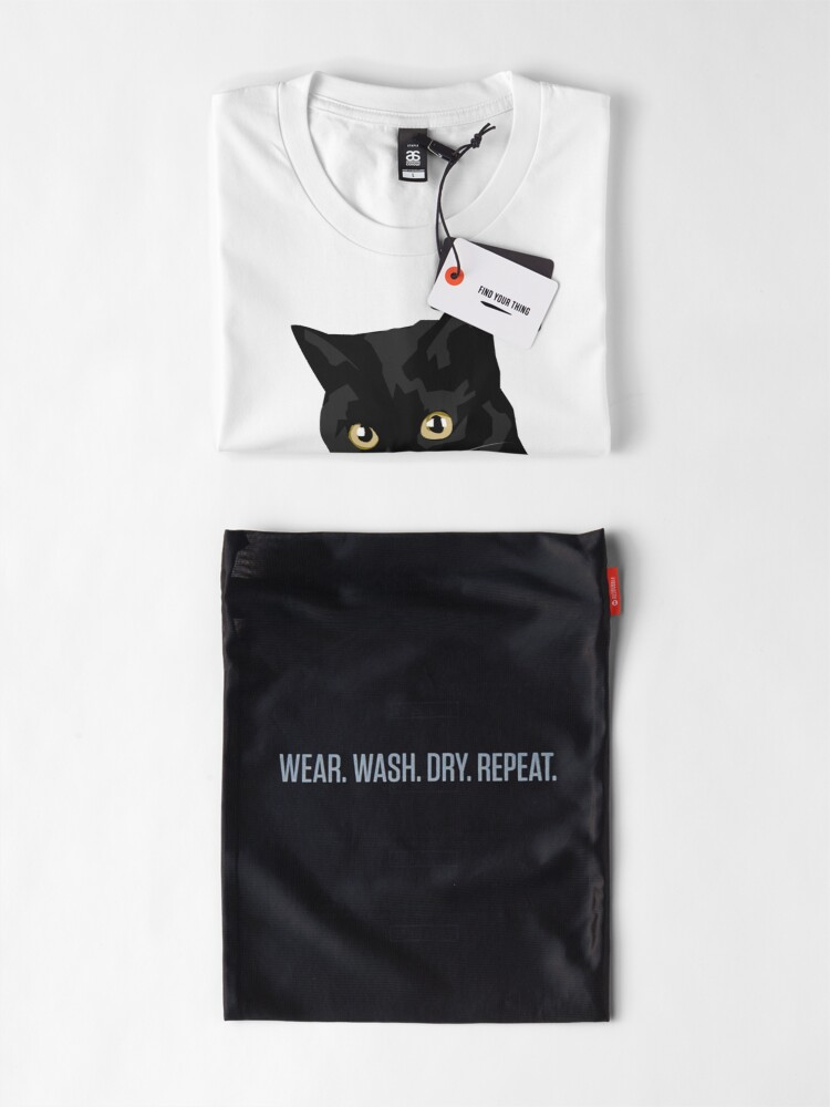 Vista alternativa de Camiseta premium Gato negro