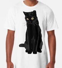 Schwarze Katze Longshirt