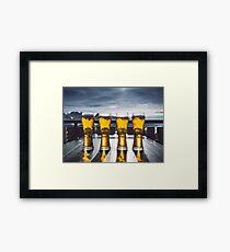 Beer Glasses  Framed Print