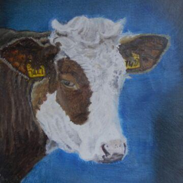 cow by sandradamenart