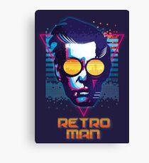 Retro Man Canvas Print