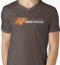 Jamon Long Logo V-Neck T-Shirt