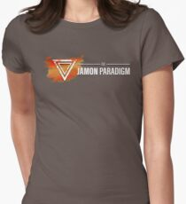 Jamon Long Logo Women's Fitted T-Shirt