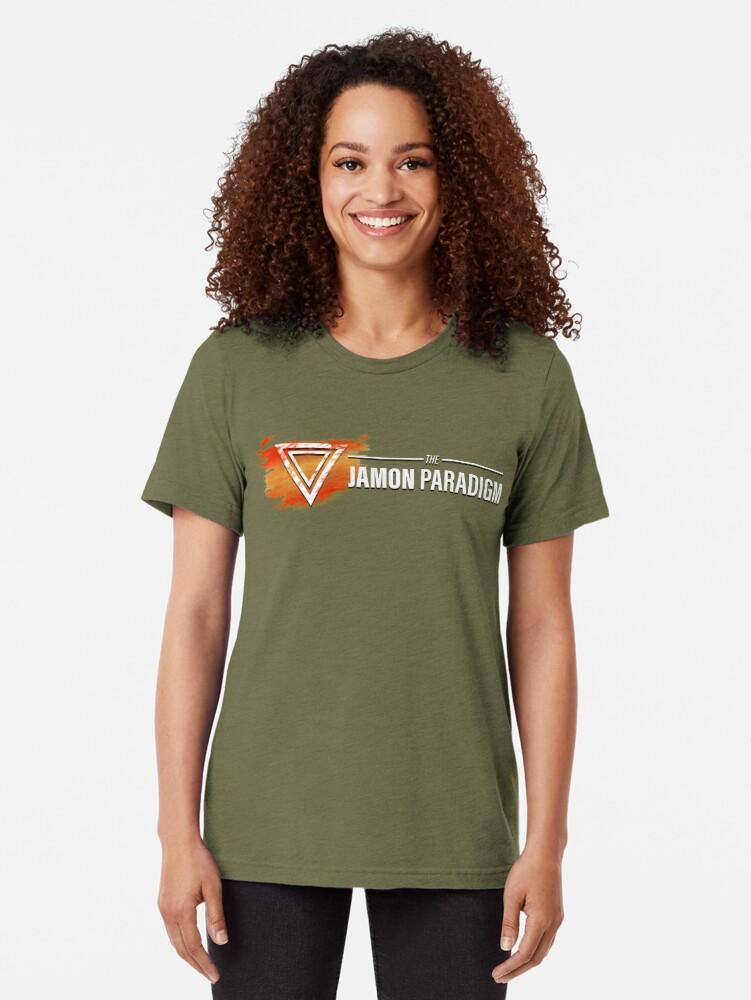 Alternate view of Jamon Long Logo Tri-blend T-Shirt