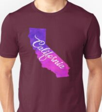 California - Purple Watercolor T-Shirt