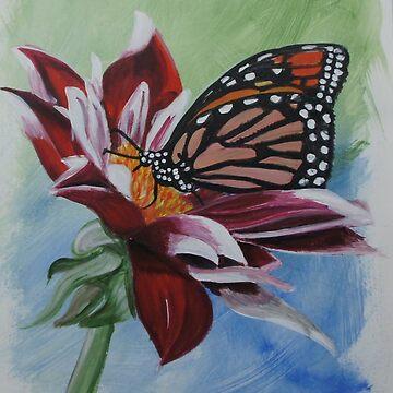 butterfly by sandradamenart