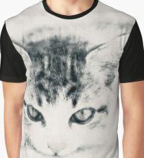 Cat, Carcoal Drawing - Katze, Zeichnung Graphic T-Shirt