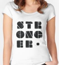 STRONGER - Gym Motivation Women's Fitted Scoop T-Shirt