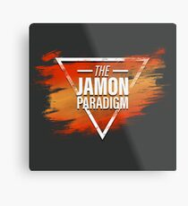 Jamon Paradigm Condensed Logo Metal Print