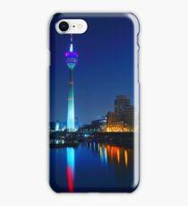 Dusseldorf Night Skyline  iPhone Case/Skin