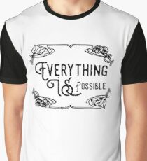 Everything Is Possible Inspirational And Motivational Cool Typography Design Graphic T-Shirt