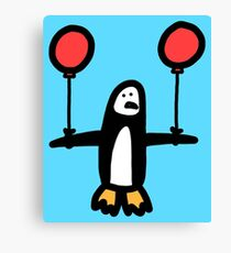 Balloon Penguin Canvas Print