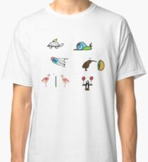 Sticker Pack: minimal animals (vol. 1) Classic T-Shirt
