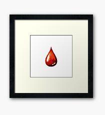 polygonal drop of blood Framed Print