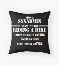 SYSADMIN Throw Pillow