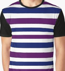 Classic OLD STRIPES Vintage look blue purple Graphic T-Shirt