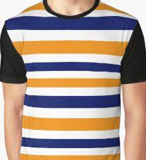 LUXURY STRIPES BLUE ORANGE Graphic T-Shirt
