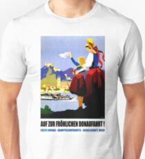 Danube river, Austria, Vienna, vintage travel poster T-Shirt