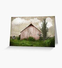 Sweet Weathered Red Barn Greeting Card