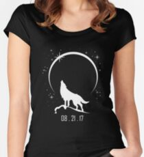 Solar Eclipse 08 21 2017 Women's Fitted Scoop T-Shirt