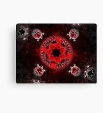 Red and White Bubble Star Flowers Canvas Print