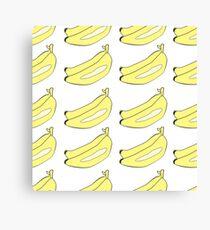 Bananas drawn in Japanese cartoon style Canvas Print