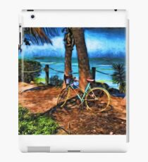 Bicycle Leaning Against a Tree iPad Case/Skin