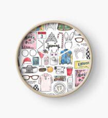 MEAN GIRLS illustration burn book quote mouse bunny ears kalteen bars tiara orange  Clock
