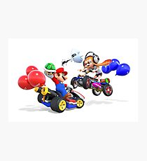 mario bross and splatoon   Photographic Print